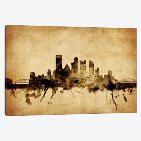 Pittsburgh, Pennsylvania, USA Canvas Print #MTO72} by Michael Tompsett Canvas Artwork
