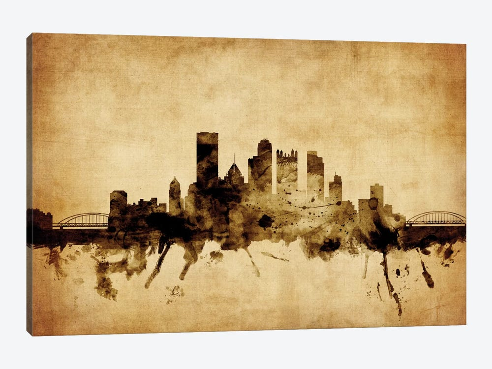 Pittsburgh, Pennsylvania, USA by Michael Tompsett 1-piece Canvas Wall Art