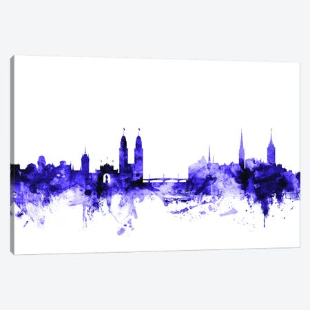 Zurich, Switzerland Skyline Canvas Print #MTO732} by Michael Tompsett Canvas Art Print