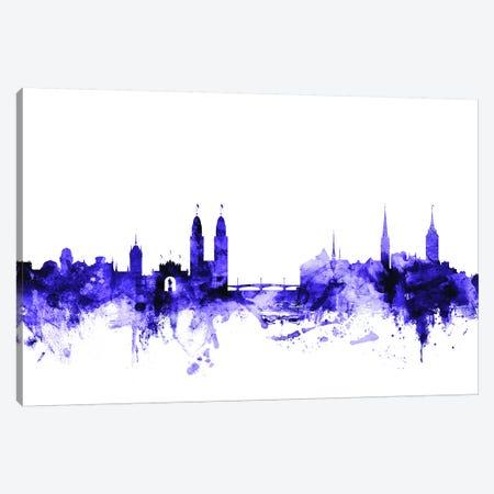 Zurich, Switzerland Skyline Canvas Print #MTO732} by Michael Tompsett Canvas Art Print