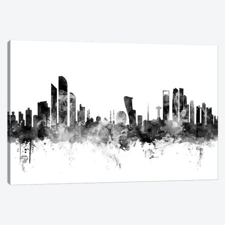 Abu Dhabi, UAE In Black & White Canvas Print #MTO734} by Michael Tompsett Canvas Artwork