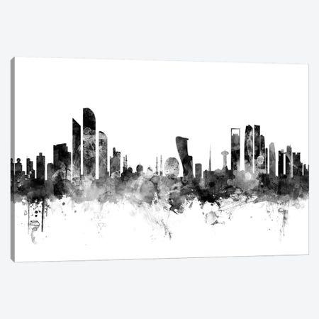 Abu Dhabi, UAE In Black & White Canvas Print #MTO734} by Michael Tompsett Canvas Artwork