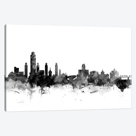 Albany, New York In Black & White Canvas Print #MTO736} by Michael Tompsett Canvas Wall Art