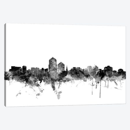Albuquerque, New Mexico In Black & White Canvas Print #MTO737} by Michael Tompsett Canvas Artwork