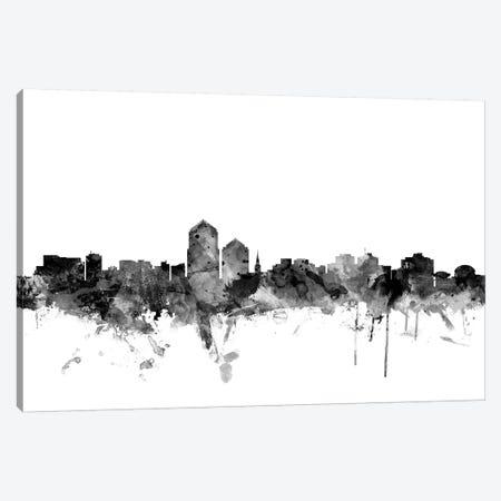 Albuquerque, New Mexico In Black & White Canvas Print #MTO737} by Michael Tompsett Canvas Artwork