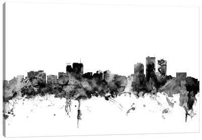 Anchorage, Alaska In Black & White Canvas Art Print
