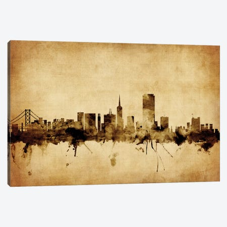 San Francisco, California, USA Canvas Print #MTO73} by Michael Tompsett Canvas Wall Art