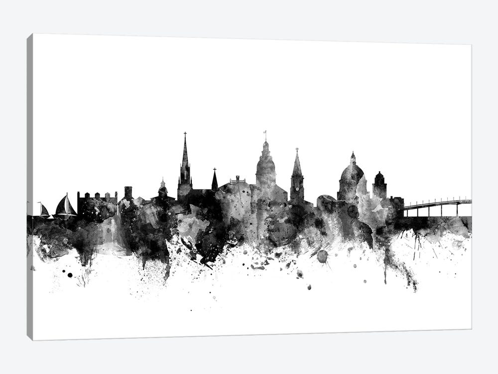 Annapolis, Maryland In Black & White by Michael Tompsett 1-piece Canvas Artwork