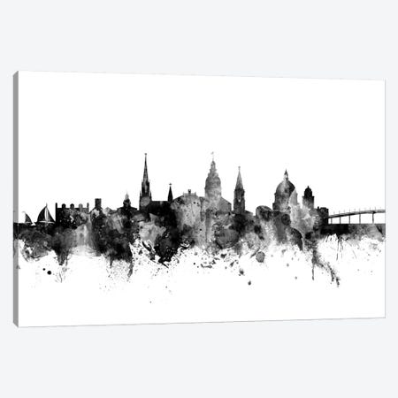 Annapolis, Maryland In Black & White Canvas Print #MTO740} by Michael Tompsett Canvas Artwork