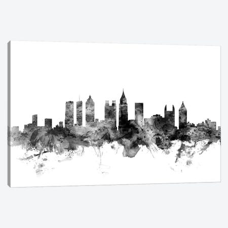 Atlanta, Georgia In Black & White Canvas Print #MTO741} by Michael Tompsett Canvas Art