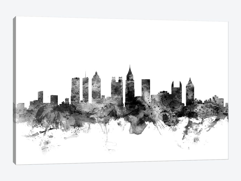 Atlanta, Georgia In Black & White by Michael Tompsett 1-piece Art Print