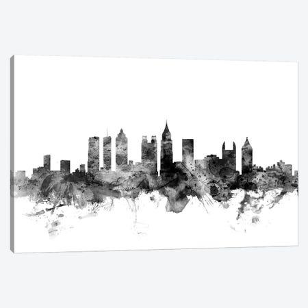 Atlanta, Georgia In Black & White Canvas Print #MTO741} by Michael Tompsett Canvas Art
