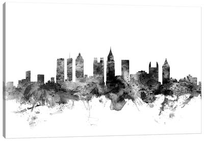 Atlanta, Georgia In Black & White Canvas Art Print