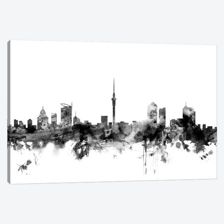Auckland, New Zealand In Black & White Canvas Print #MTO742} by Michael Tompsett Canvas Artwork