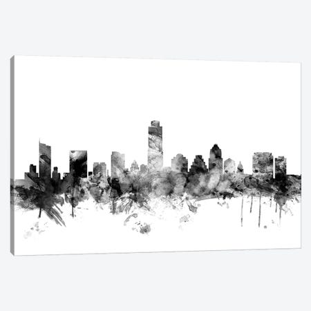 Austin, Texas In Black & White Canvas Print #MTO743} by Michael Tompsett Canvas Artwork