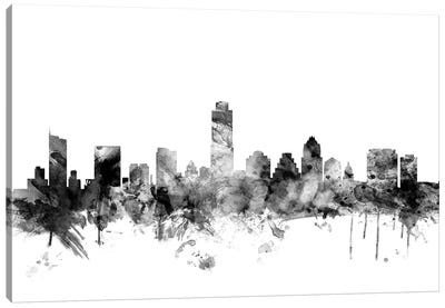 Austin, Texas In Black & White Canvas Art Print