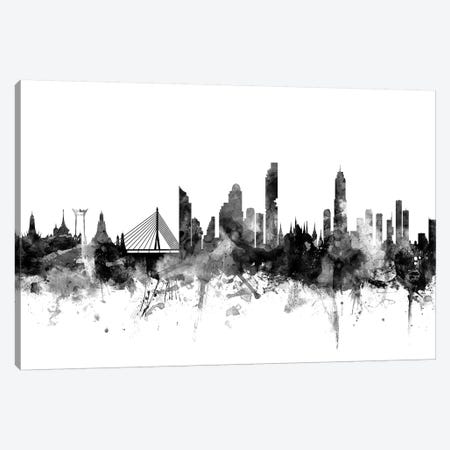 Bangkok, Thailand In Black & White 3-Piece Canvas #MTO745} by Michael Tompsett Canvas Art Print