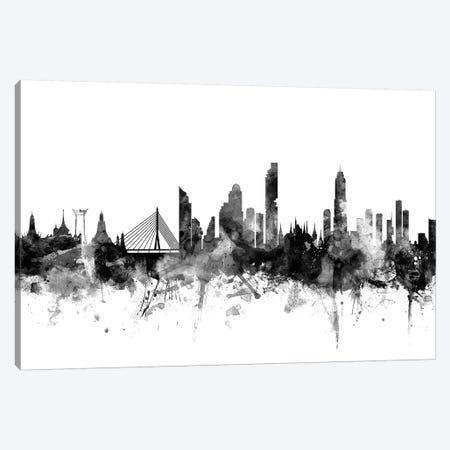 Bangkok, Thailand In Black & White Canvas Print #MTO745} by Michael Tompsett Canvas Art Print