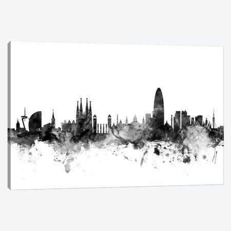 Barcelona, Spain In Black & White Canvas Print #MTO746} by Michael Tompsett Canvas Print