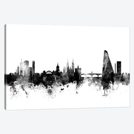 Basel, Switzerland In Black & White Canvas Print #MTO747} by Michael Tompsett Canvas Print