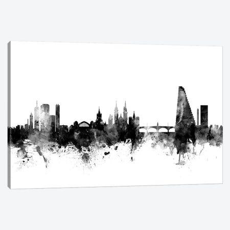 Basel, Switzerland In Black & White Canvas Print #MTO747} by Michael Tompsett Canvas Print