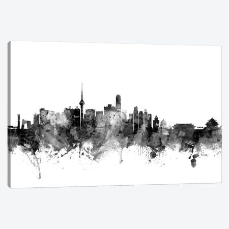 Beijing, China In Black & White 3-Piece Canvas #MTO749} by Michael Tompsett Canvas Art
