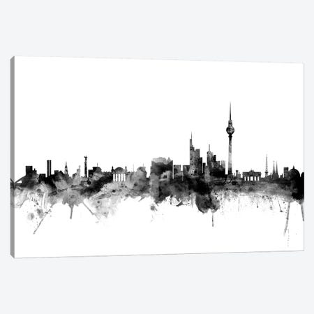 Berlin, Germany In Black & White Canvas Print #MTO751} by Michael Tompsett Canvas Art Print