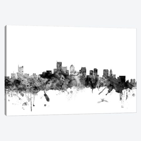 Boston, Massachusetts In Black & White I Canvas Print #MTO755} by Michael Tompsett Canvas Wall Art