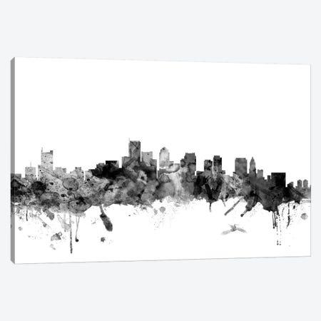 Boston, Massachusetts In Black & White I 3-Piece Canvas #MTO755} by Michael Tompsett Canvas Wall Art