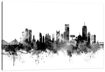 Boston, Massachusetts In Black & White II Canvas Art Print