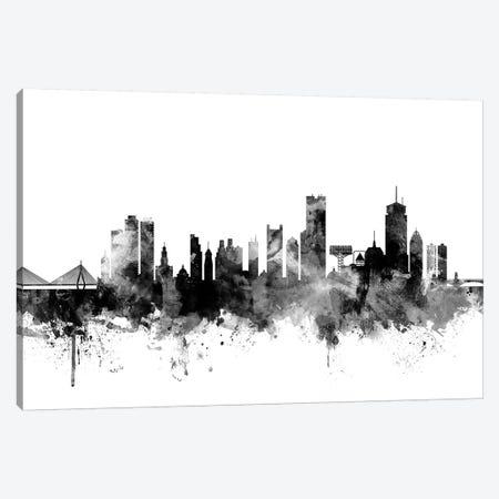 Boston, Massachusetts In Black & White II 3-Piece Canvas #MTO756} by Michael Tompsett Canvas Wall Art