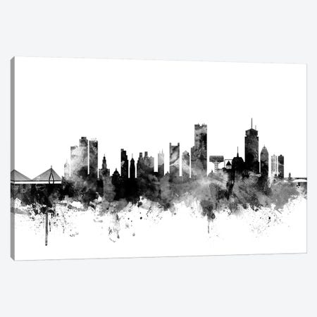 Boston, Massachusetts In Black & White II Canvas Print #MTO756} by Michael Tompsett Canvas Wall Art