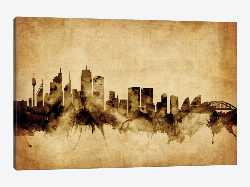Sydney, Australia by Michael Tompsett 1-piece Canvas Art Print