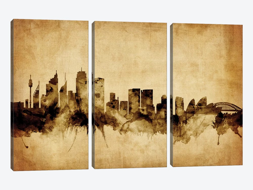 Sydney, Australia by Michael Tompsett 3-piece Canvas Art Print