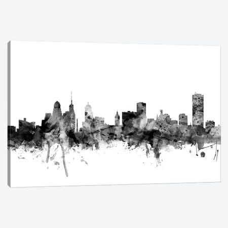 Buffalo, New York In Black & White Canvas Print #MTO763} by Michael Tompsett Canvas Artwork