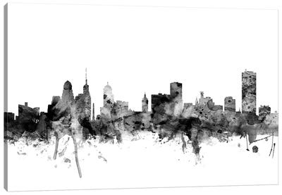 Buffalo, New York In Black & White Canvas Art Print