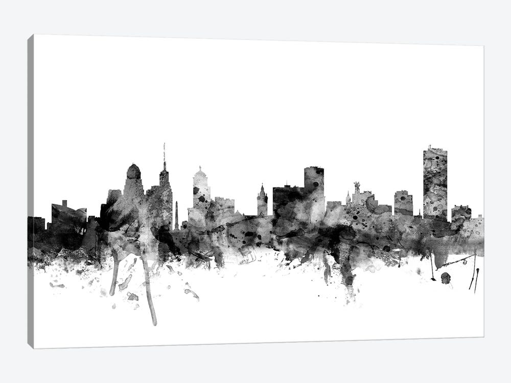 Buffalo, New York In Black & White 1-piece Art Print