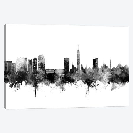 Cairo, Egypt In Black & White Canvas Print #MTO764} by Michael Tompsett Canvas Print