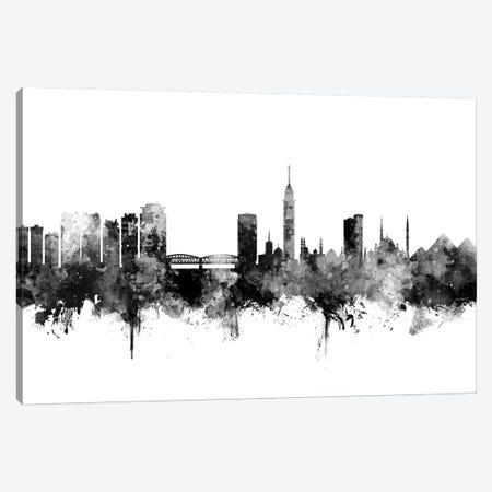 Cairo, Egypt In Black & White 3-Piece Canvas #MTO764} by Michael Tompsett Canvas Print