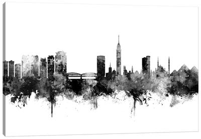 Cairo, Egypt In Black & White Canvas Art Print