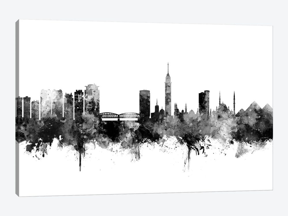 Cairo, Egypt In Black & White by Michael Tompsett 1-piece Canvas Wall Art