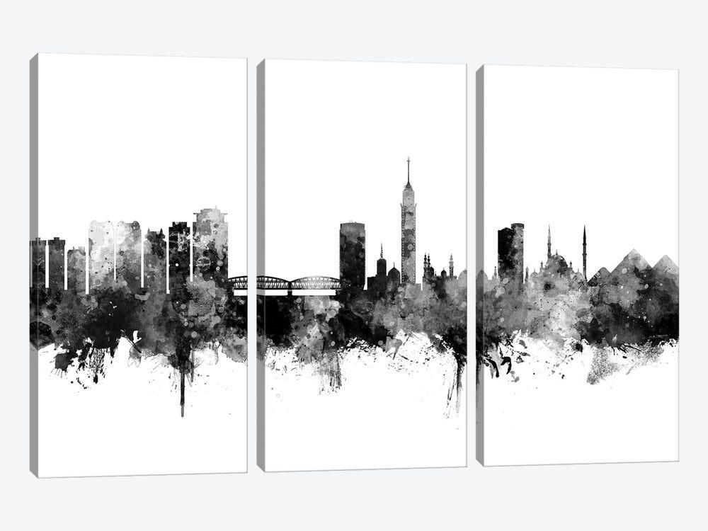 Cairo, Egypt In Black & White by Michael Tompsett 3-piece Canvas Artwork
