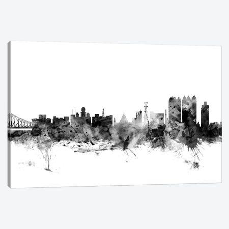 Calcutta, India In Black & White Canvas Print #MTO765} by Michael Tompsett Canvas Print