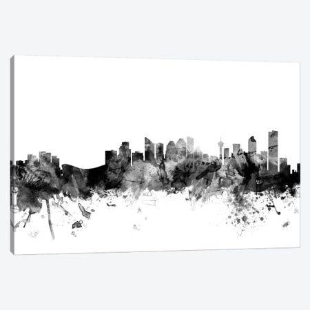 Calgary, Canada In Black & White Canvas Print #MTO766} by Michael Tompsett Art Print