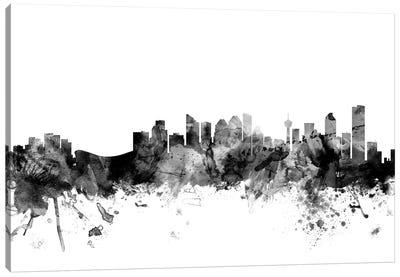 Calgary, Canada In Black & White Canvas Art Print