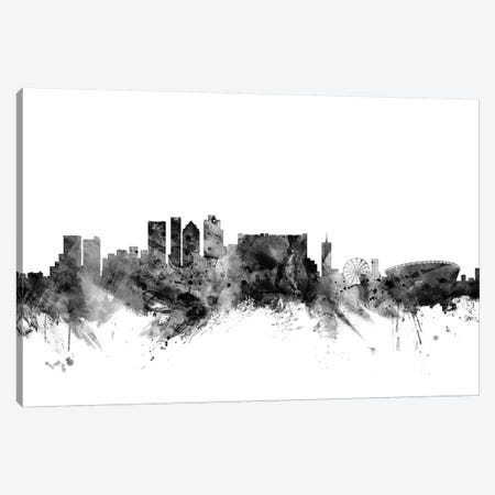 Cape Town, South Africa In Black & White 3-Piece Canvas #MTO768} by Michael Tompsett Canvas Artwork