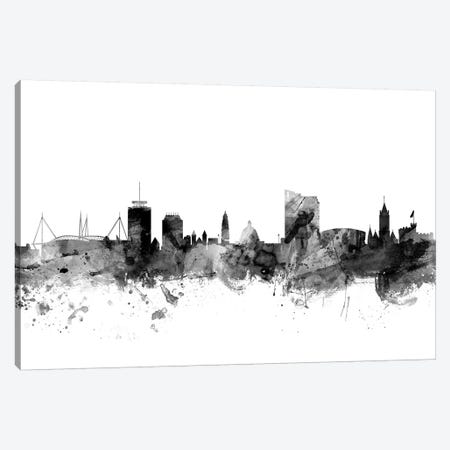 Cardiff, Wales In Black & White Canvas Print #MTO769} by Michael Tompsett Canvas Wall Art