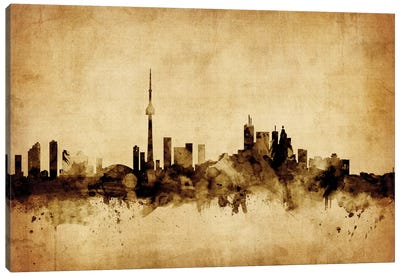 Foxed (Retro) Skyline Series: Toronto, Canada Canvas Print #MTO76