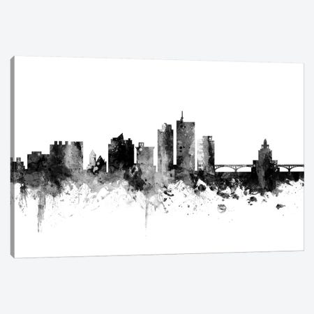 Cedar Rapids, Iowa In Black & White Canvas Print #MTO770} by Michael Tompsett Canvas Art Print
