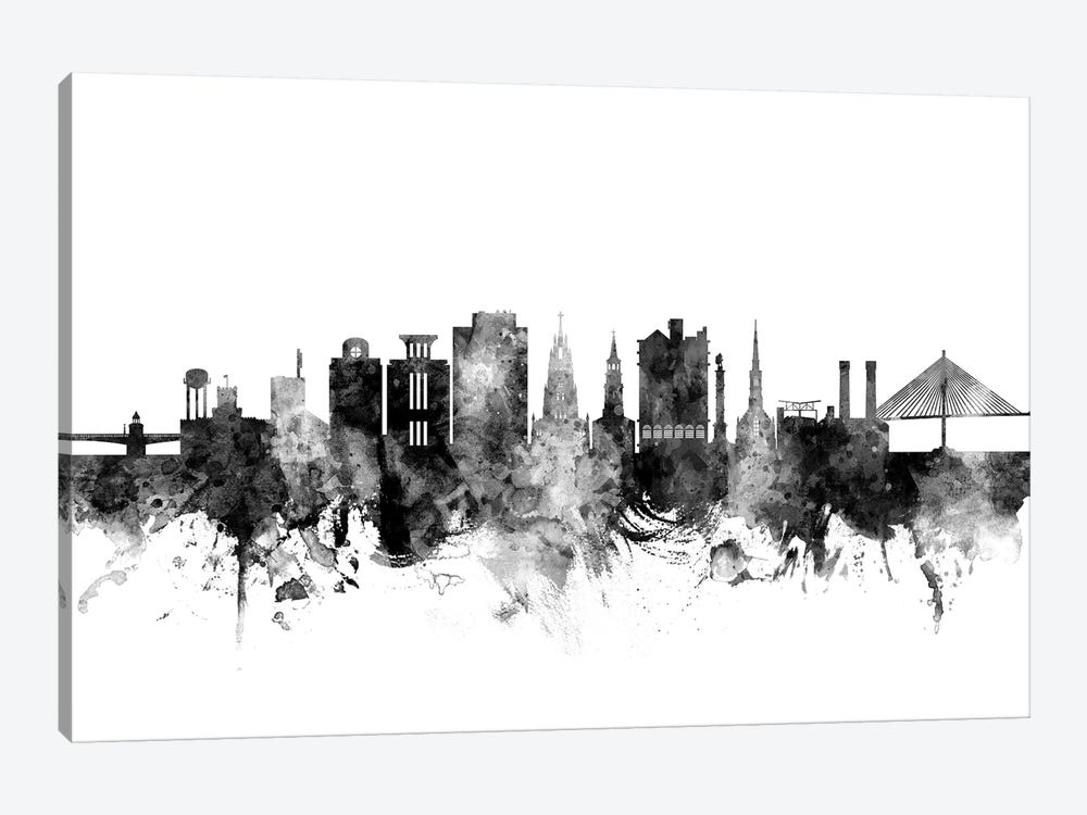 Charleston, South Carolina In Black & White by Michael Tompsett 1-piece Canvas Art